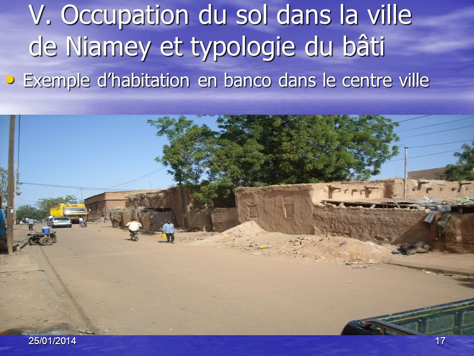 V. Occupation du sol dans la ville de Niamey et typologie du bâti