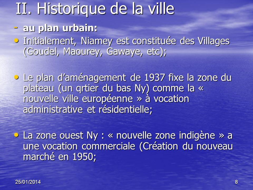 II. Historique de la ville