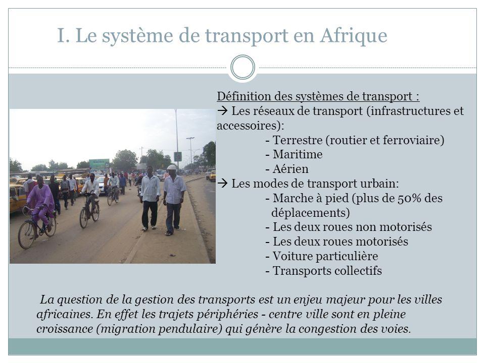 I. Le système de transport en Afrique