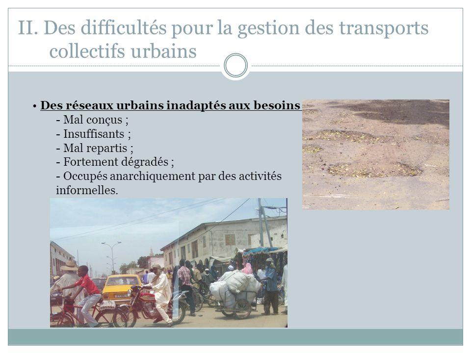 II. Des difficultés pour la gestion des transports collectifs urbains