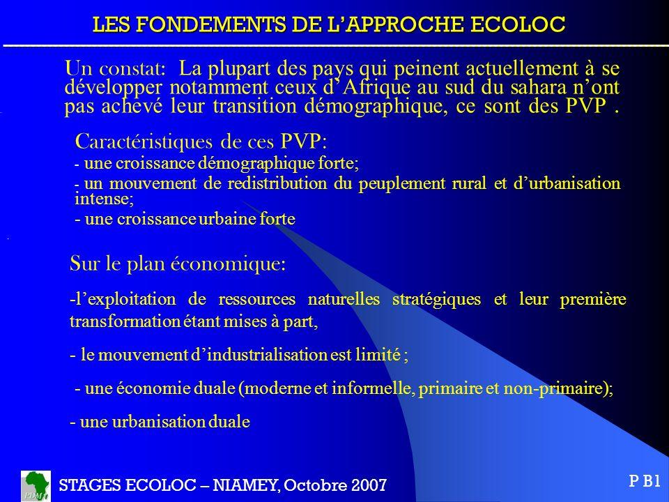 LES FONDEMENTS DE L'APPROCHE ECOLOC