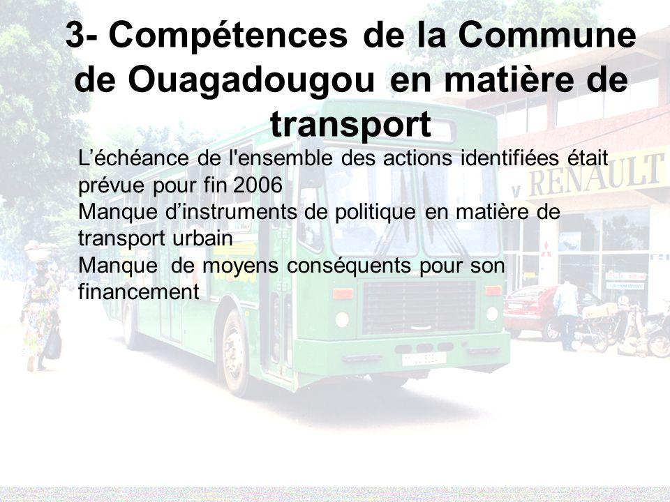 3- Compétences de la Commune de Ouagadougou en matière de transport