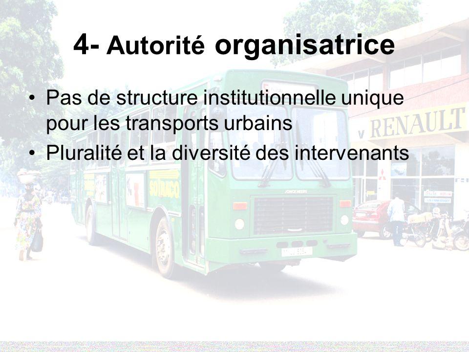 4- Autorité organisatrice