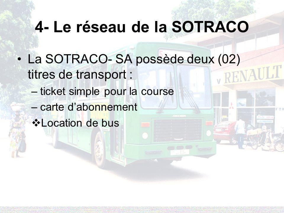 4- Le réseau de la SOTRACO