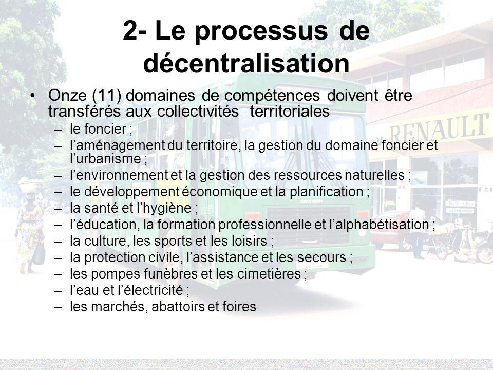 2- Le processus de décentralisation