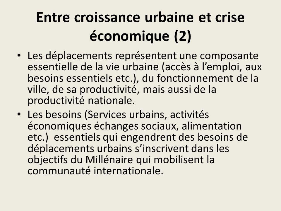 Entre croissance urbaine et crise économique (2)