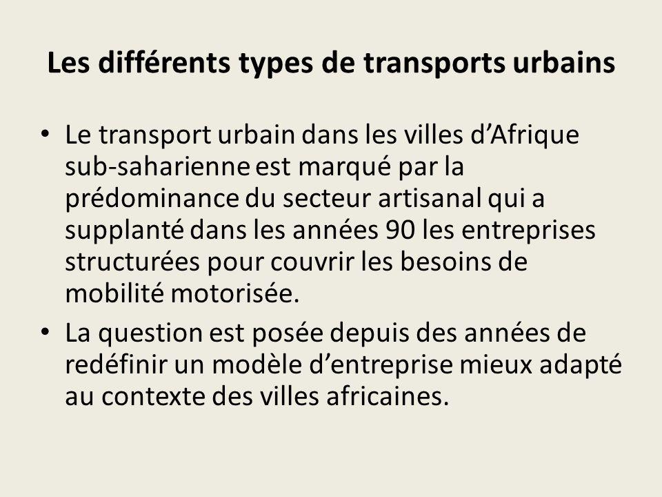 Les différents types de transports urbains