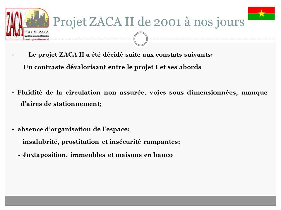 Le Projet ZACA II de 2001 à nos jours
