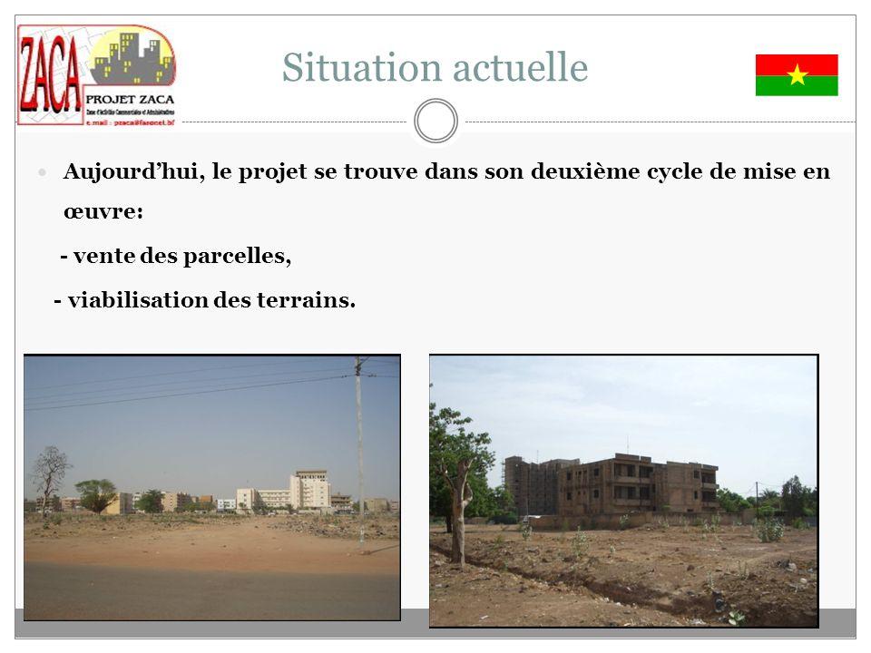 Situation actuelle Aujourd'hui, le projet se trouve dans son deuxième cycle de mise en œuvre: - vente des parcelles,