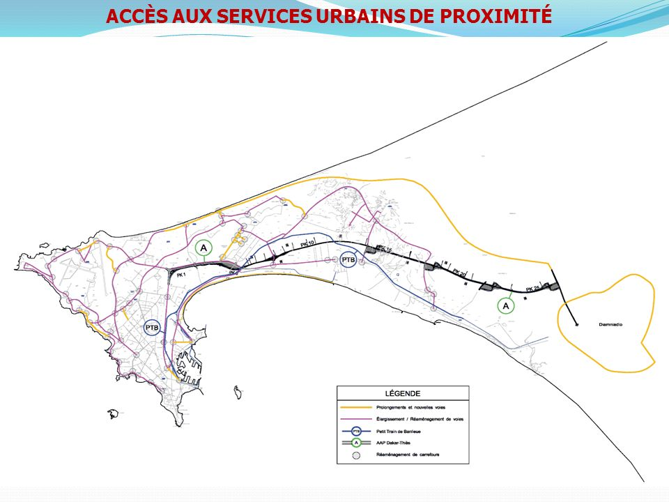 ACCÈS AUX SERVICES URBAINS DE PROXIMITÉ