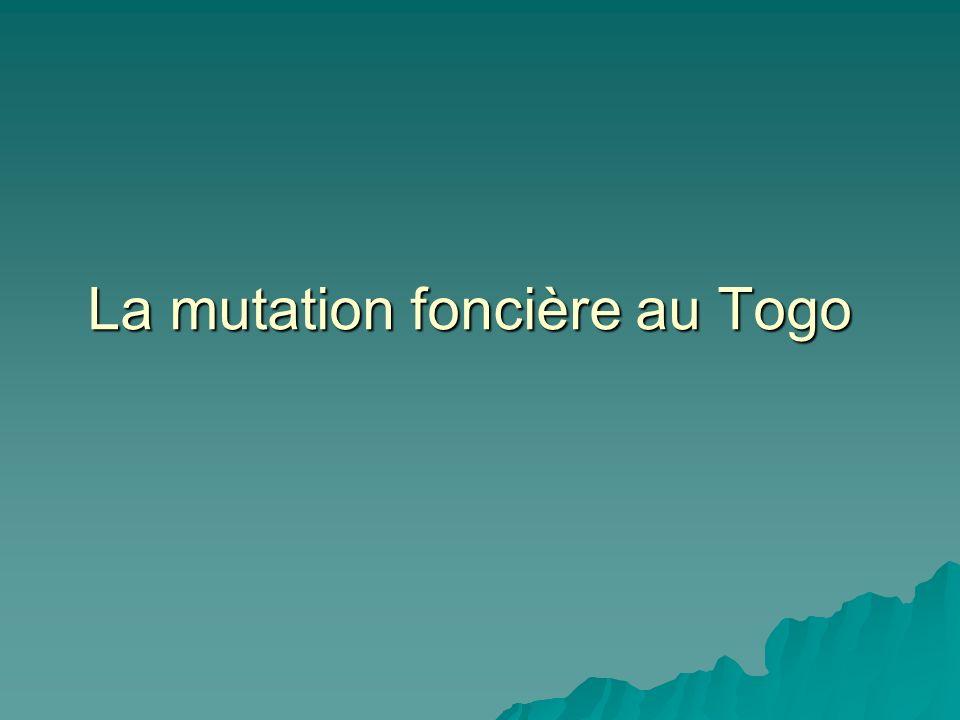 La mutation foncière au Togo