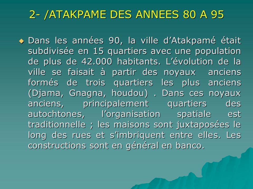 2- /ATAKPAME DES ANNEES 80 A 95