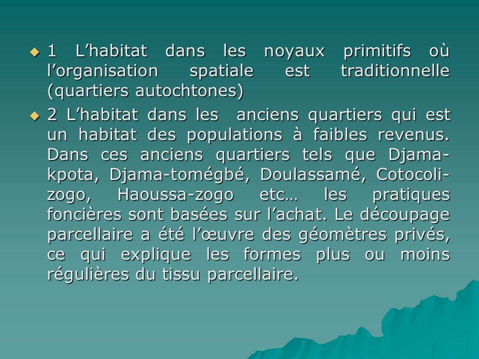 1 L'habitat dans les noyaux primitifs où l'organisation spatiale est traditionnelle (quartiers autochtones)
