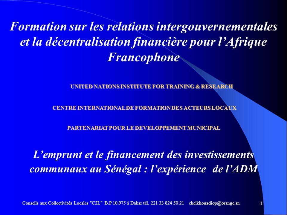 Formation sur les relations intergouvernementales et la décentralisation financière pour l'Afrique Francophone