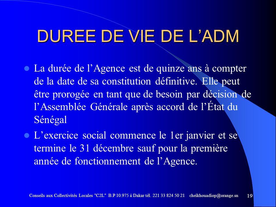 DUREE DE VIE DE L'ADM