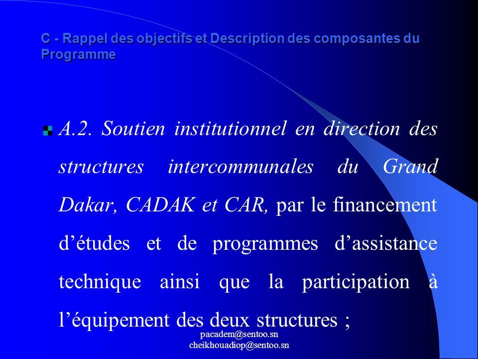 C - Rappel des objectifs et Description des composantes du Programme