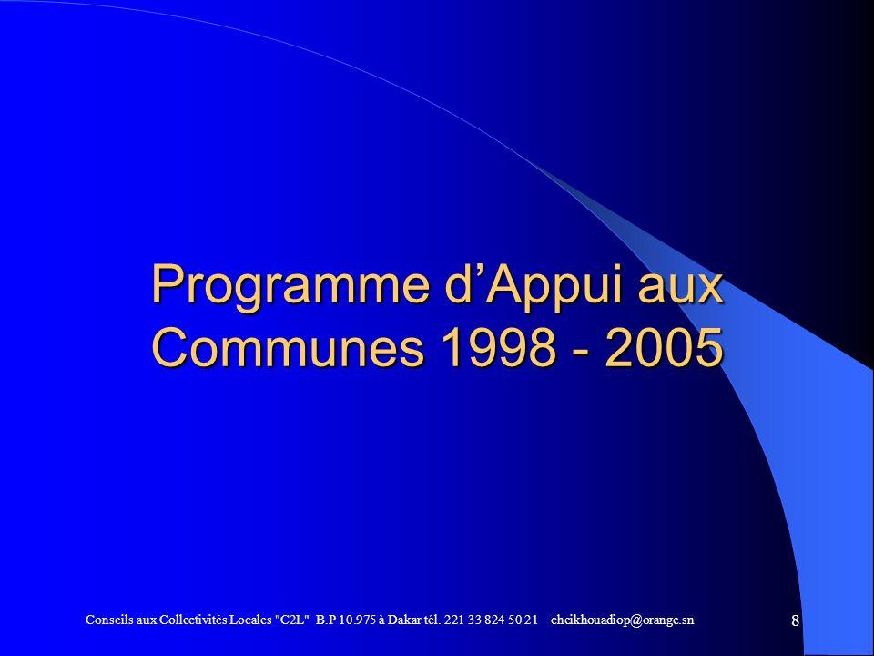 Programme d'Appui aux Communes 1998 - 2005