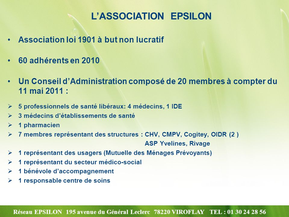 L'ASSOCIATION EPSILON