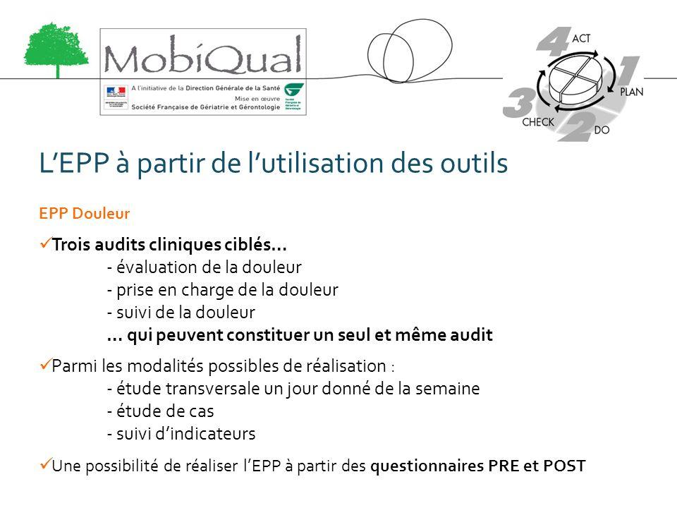 L'EPP à partir de l'utilisation des outils