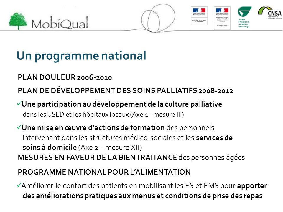 Un programme national PLAN DOULEUR 2006-2010