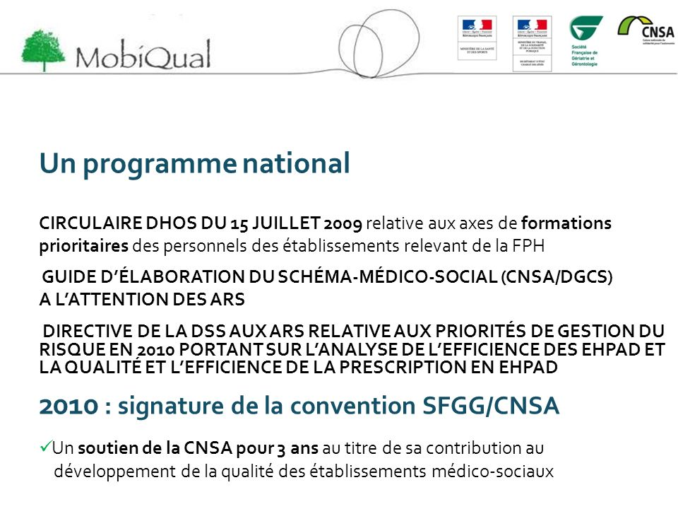 2010 : signature de la convention SFGG/CNSA