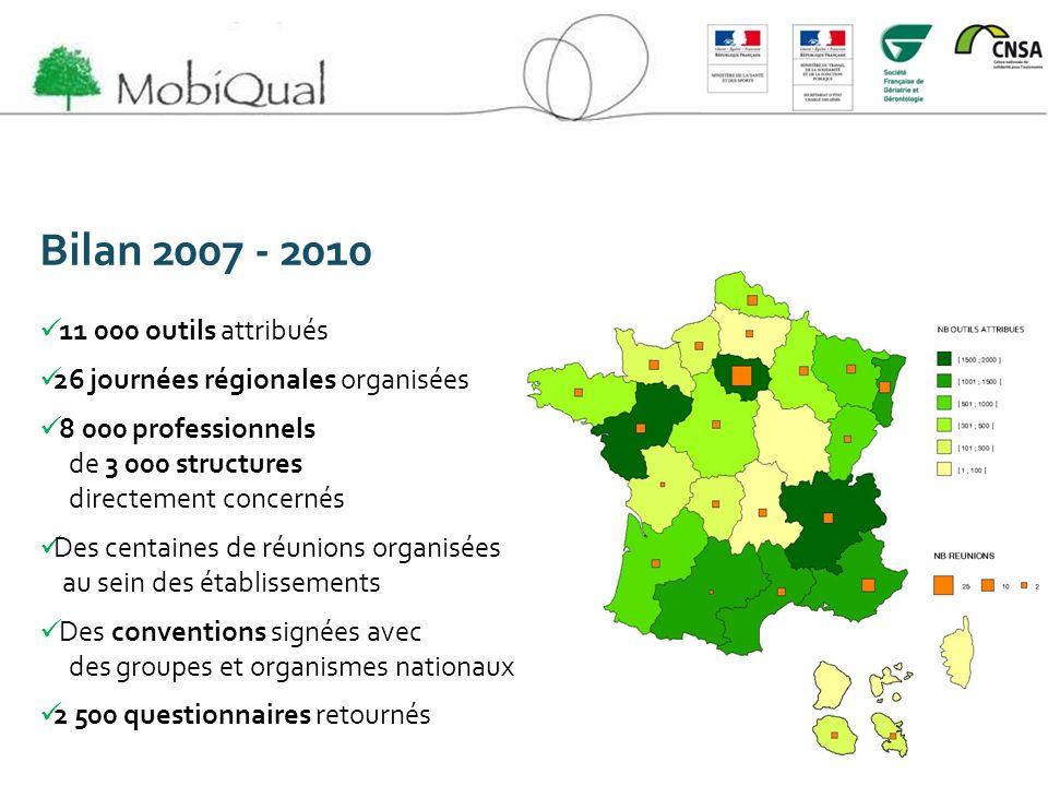 Bilan 2007 - 2010 11 000 outils attribués