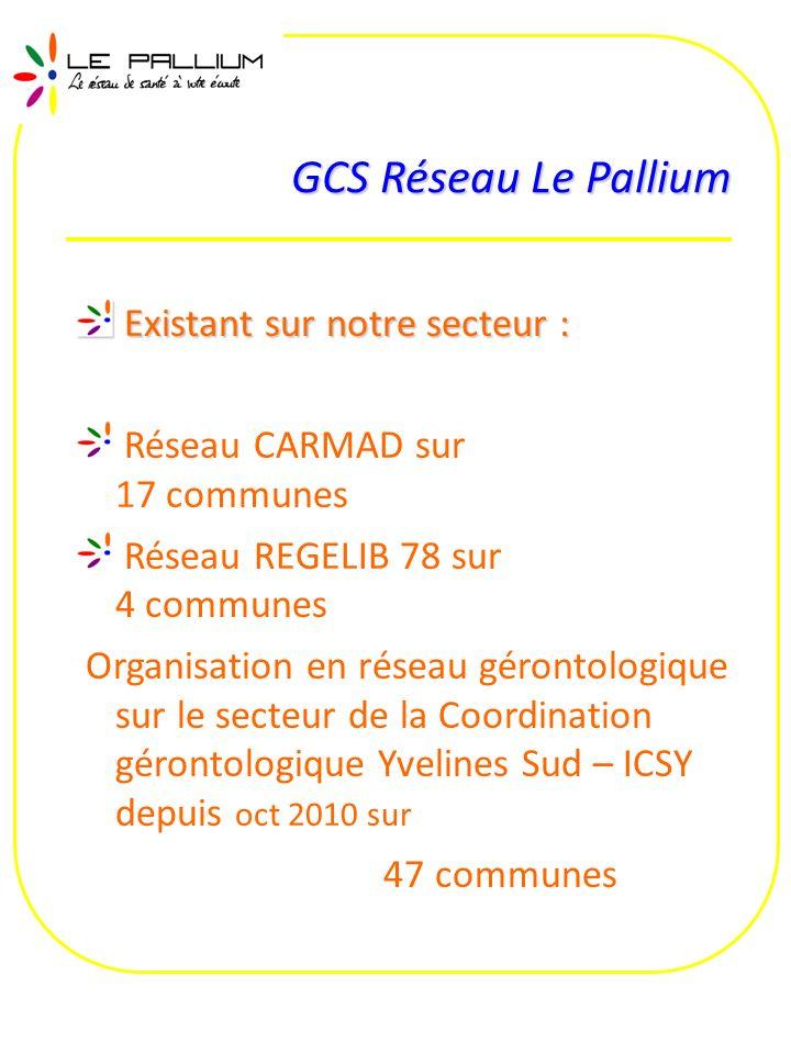 GCS Réseau Le Pallium Existant sur notre secteur :
