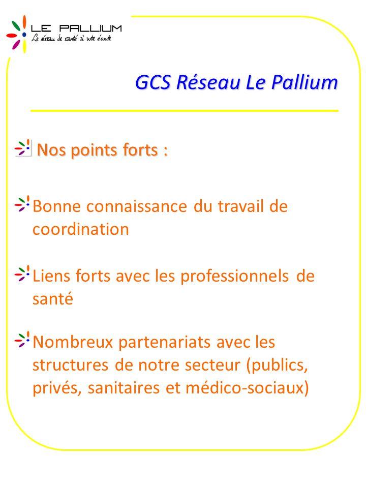 GCS Réseau Le Pallium Nos points forts :