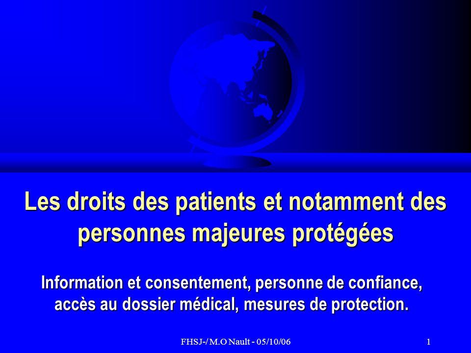 Les droits des patients et notamment des personnes majeures protégées