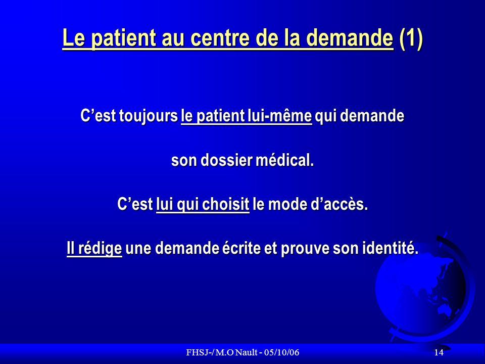 Le patient au centre de la demande (1)