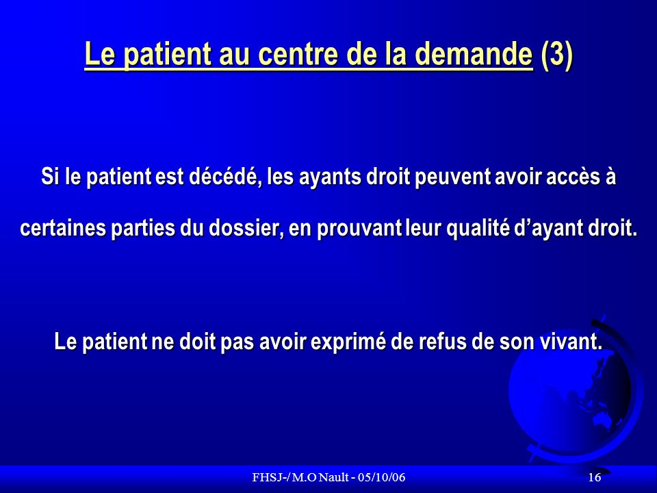 Le patient au centre de la demande (3)