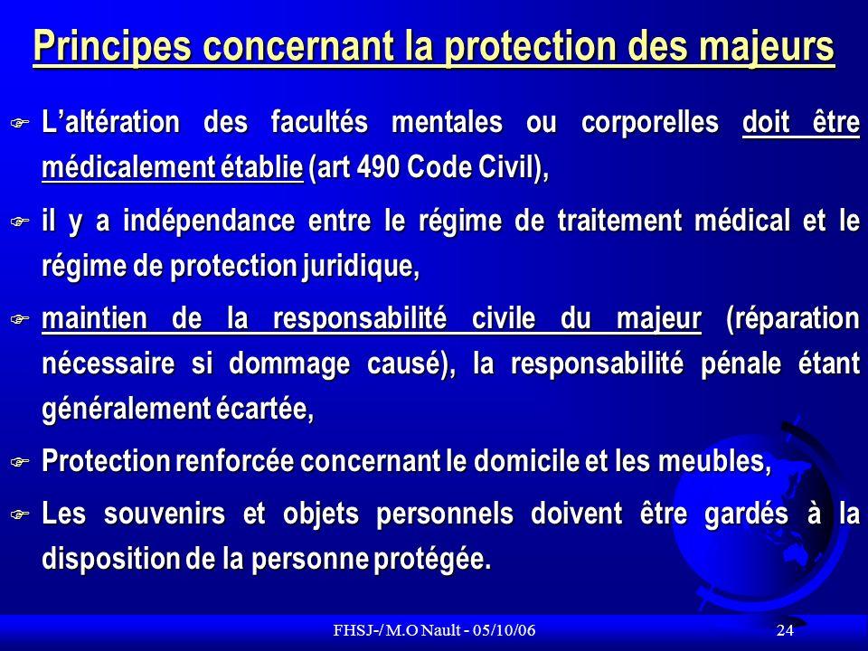 Principes concernant la protection des majeurs