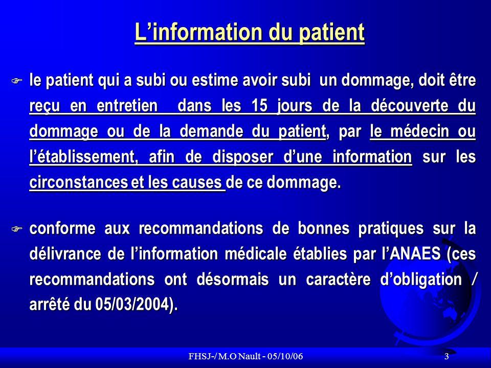 L'information du patient