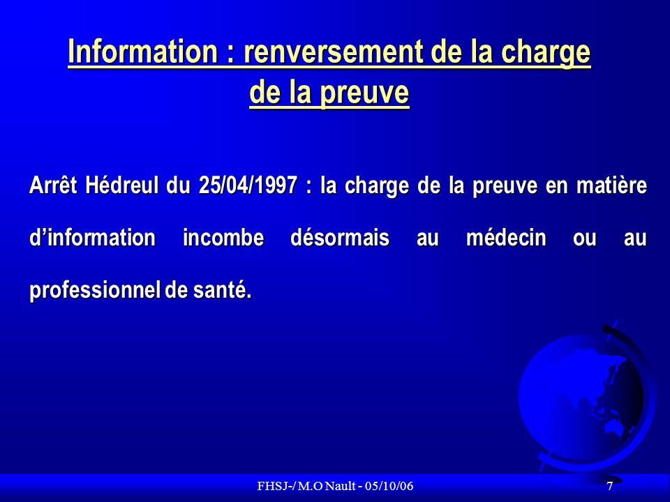 Information : renversement de la charge de la preuve