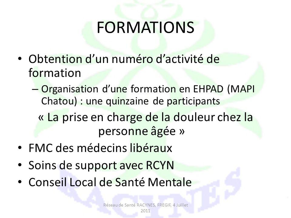 FORMATIONS Obtention d'un numéro d'activité de formation