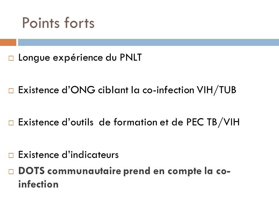 Points forts Longue expérience du PNLT