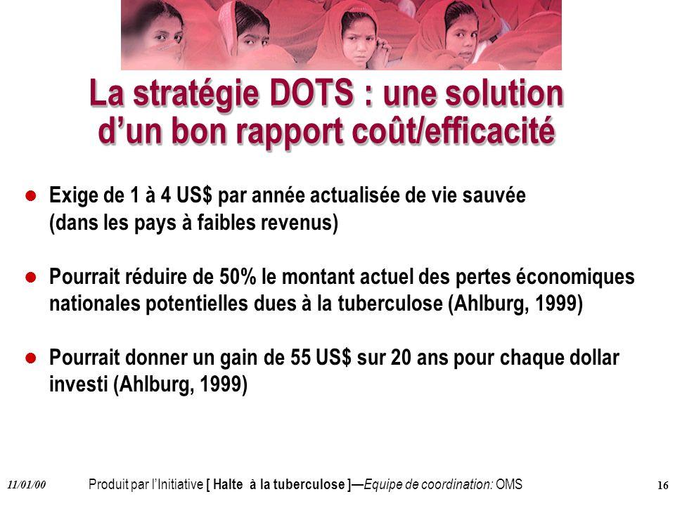 La stratégie DOTS : une solution d'un bon rapport coût/efficacité