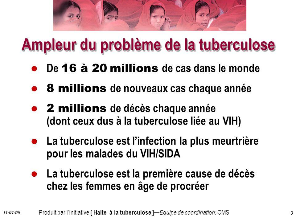 Ampleur du problème de la tuberculose