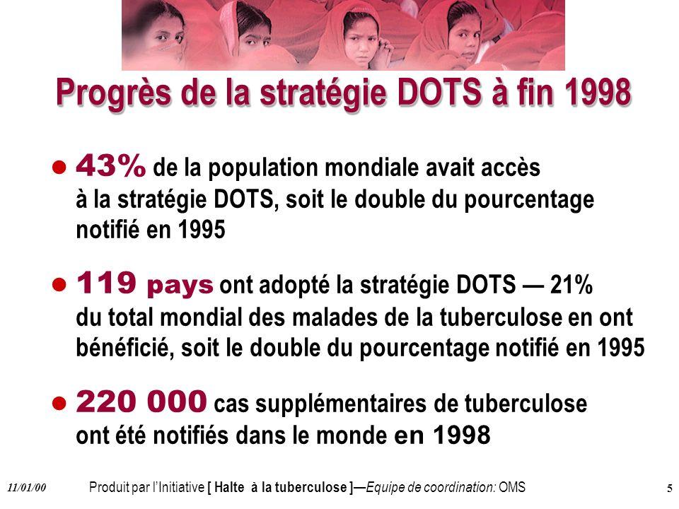 Progrès de la stratégie DOTS à fin 1998