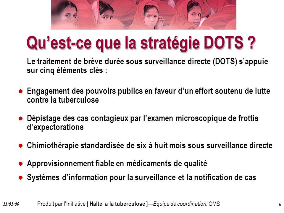 Qu'est-ce que la stratégie DOTS