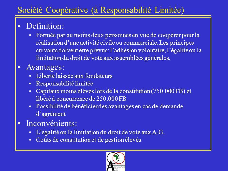 Société Coopérative (à Responsabilité Limitée)