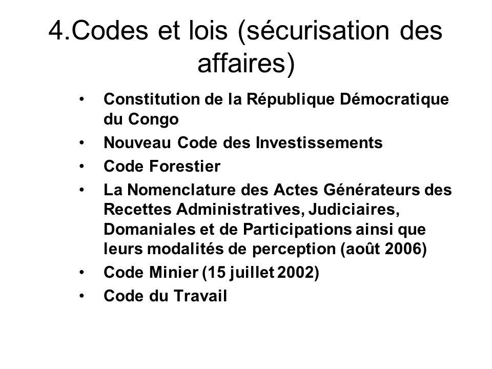 4.Codes et lois (sécurisation des affaires)