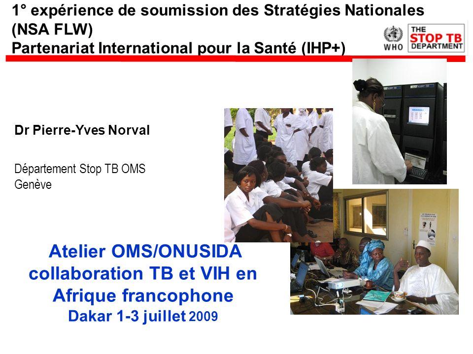 Atelier OMS/ONUSIDA collaboration TB et VIH en Afrique francophone