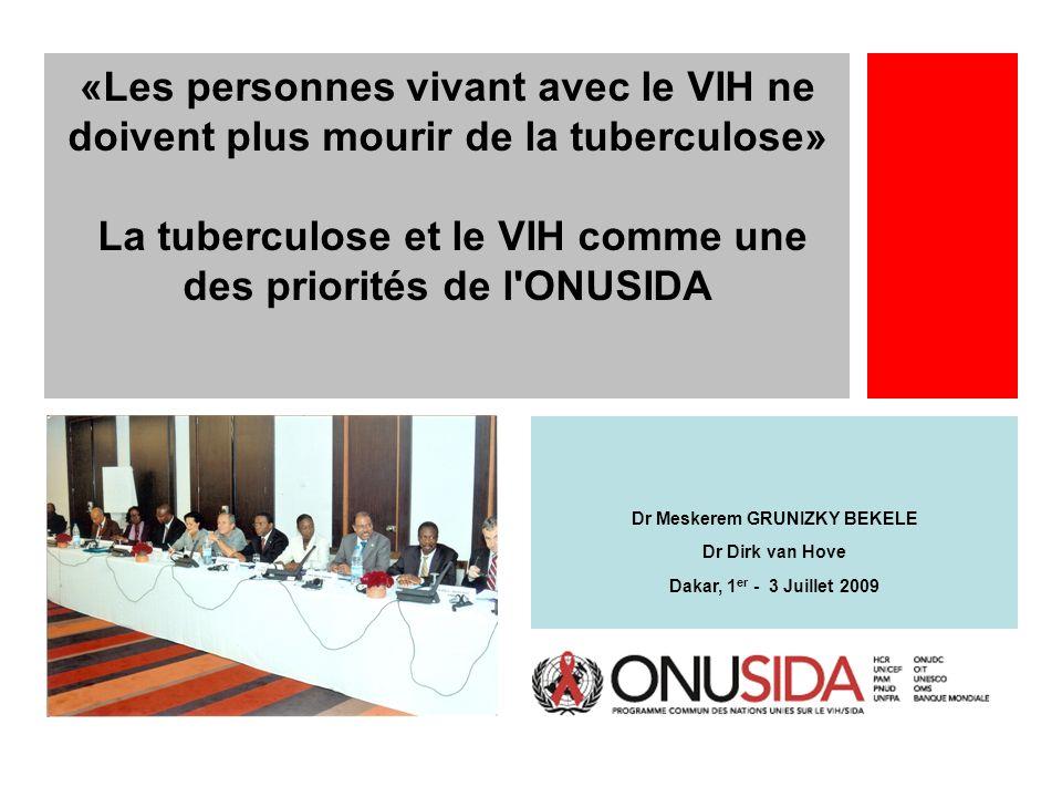 La tuberculose et le VIH comme une des priorités de l ONUSIDA