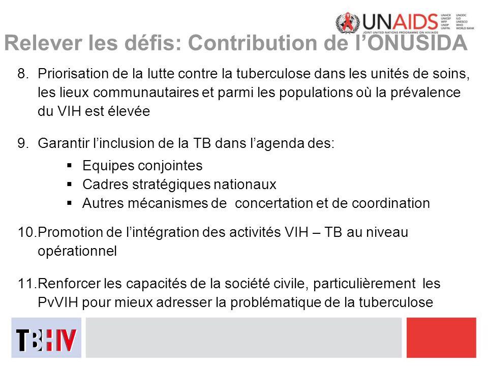 Relever les défis: Contribution de l'ONUSIDA