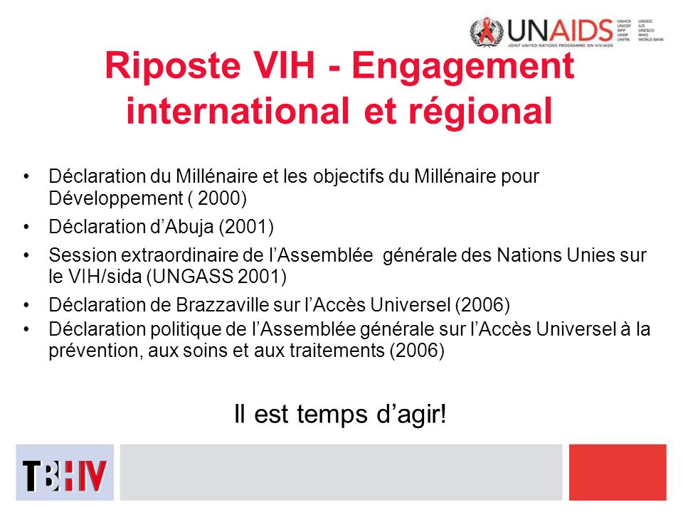 Riposte VIH - Engagement international et régional