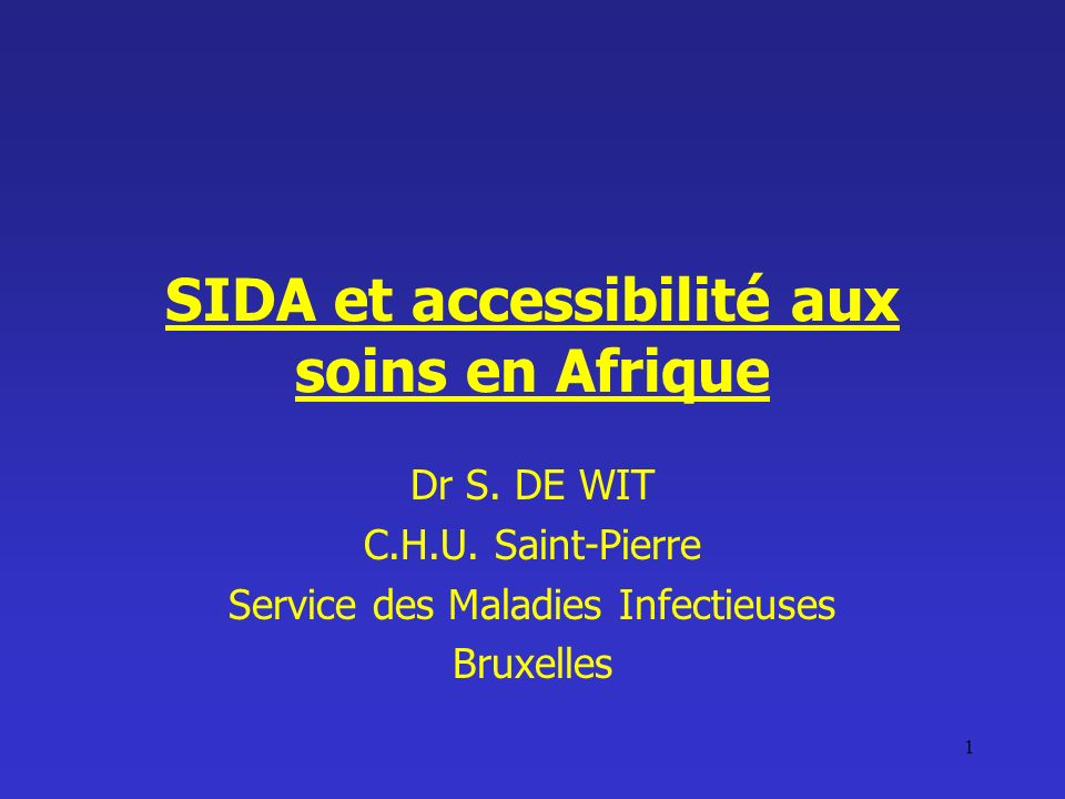 SIDA et accessibilité aux soins en Afrique