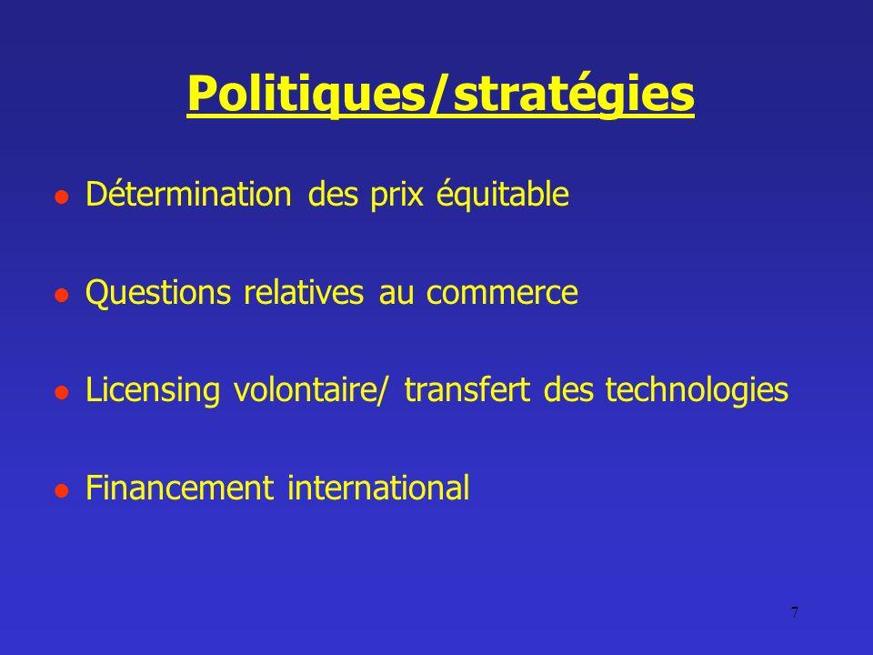 Politiques/stratégies