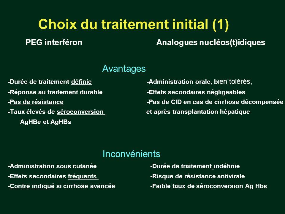 Choix du traitement initial (1)