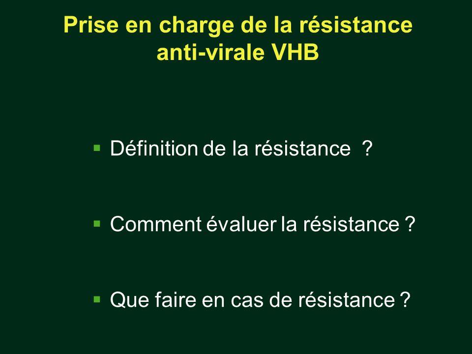 Prise en charge de la résistance anti-virale VHB